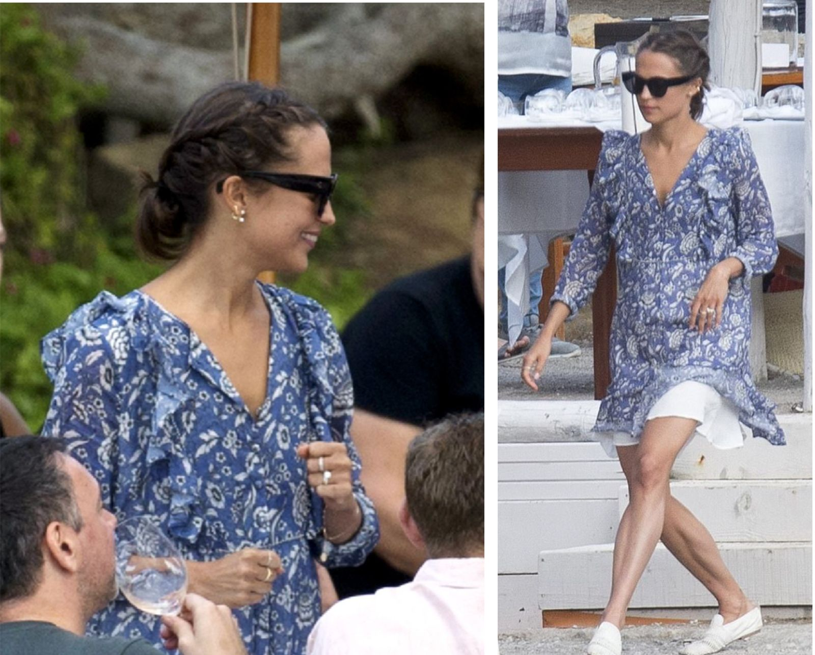 Alicia Vikander out in Ibiza wearing her ANINE BING ...