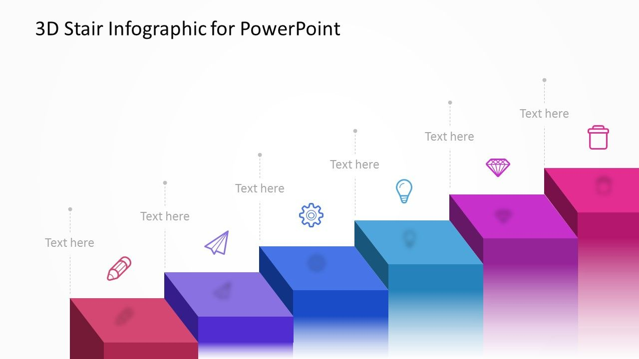 hight resolution of 3d stairs powerpoint diagram