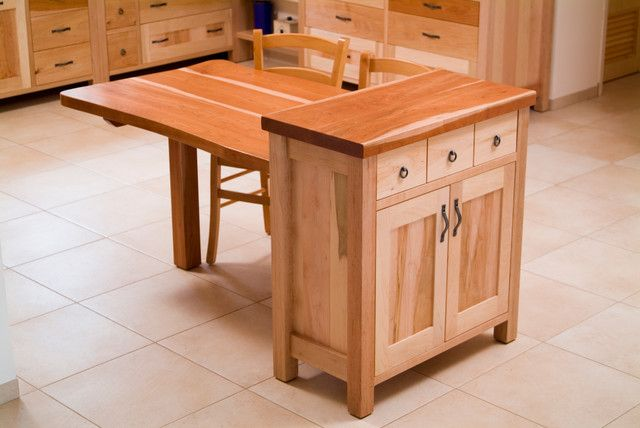 Kitchen Fascinating Island Cabinet And Dining Table Combo Eclectic