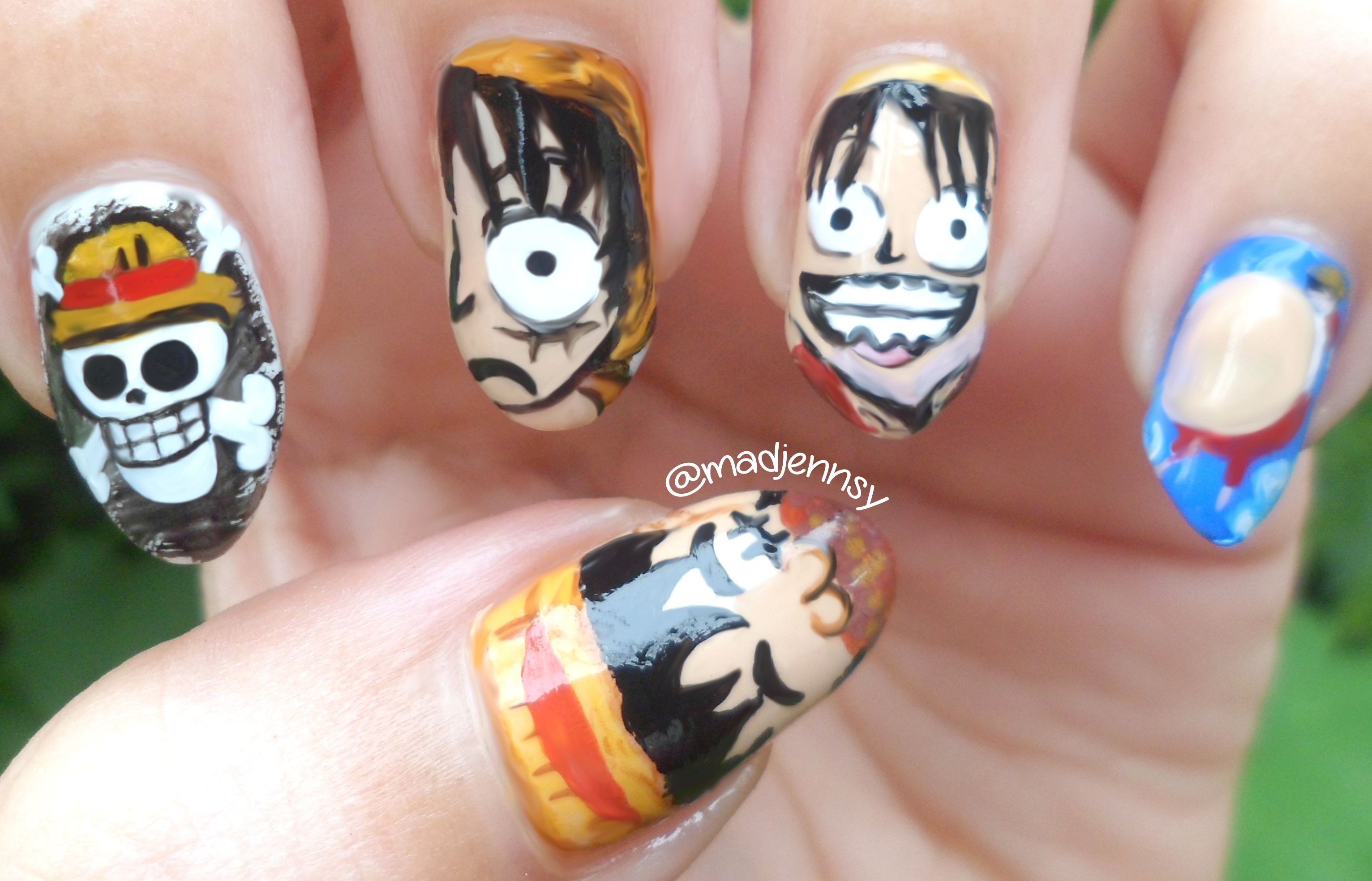One piece monkey d luffy nail art 3 nail designs pinterest one piece monkey d luffy nail art 3 prinsesfo Image collections