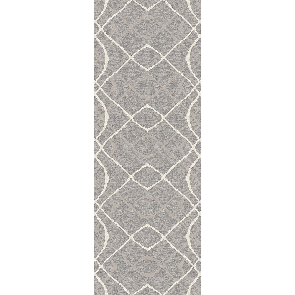 Gray Ikat Design Woven Runner 2 6 X7 Ruggable Adult Unisex