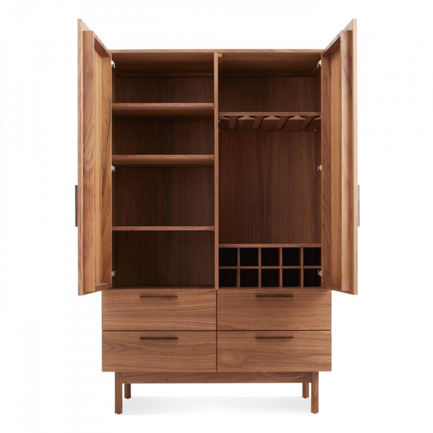 Modern Bar Cabinet Walnut Bar Cabinet and Carts