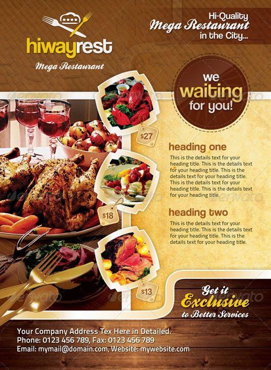 Template Brosur Makanan : template, brosur, makanan, Contoh, Desain, Brosur, Makanan, Sealkazz, Makanan,, Poster
