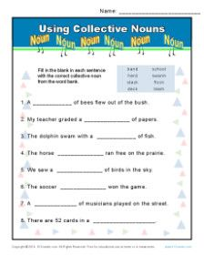Collective Noun Worksheets | 2nd- 2.L.1a - Collective Nouns ...