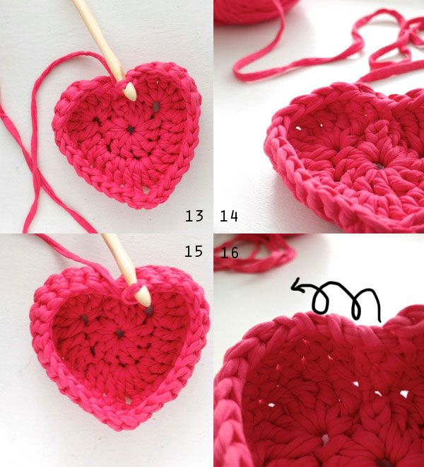 Crochet Heart Shaped Storage Baskets Crochet Heart Shapes And Yarns