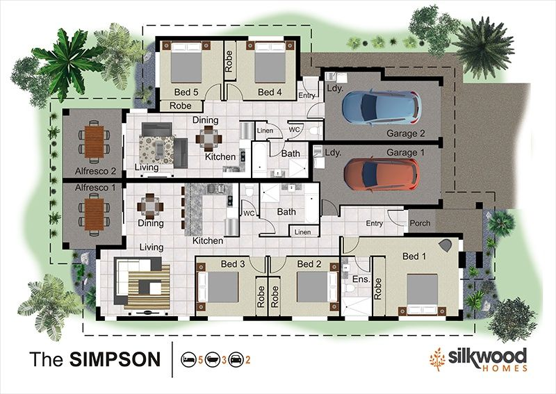 Duplex Designs Queensland Home Builders Australia House Designs Top Home Builders Best New Home Builders Hous Guest House Plans Duplex Design House Design