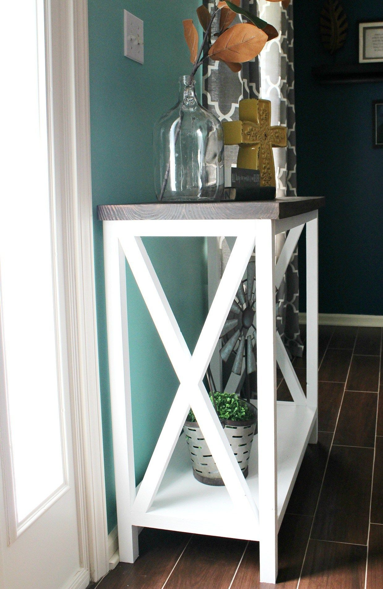 Free Room Design Tool: How To Build An X Base Console Table