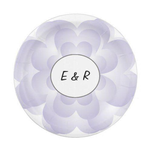 Heart Flower Wedding Lavender Paper Plate  sc 1 st  Pinterest & Heart Flower Wedding Lavender Paper Plate | Wedding lavender ...