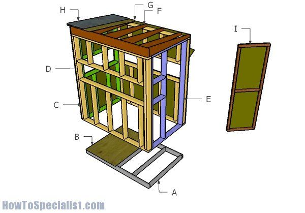 4x6 Shooting House Roof Plans Howtospecialist How To Build Step By Step Diy Plans Shooting House Deer Blind Deer Stand Plans