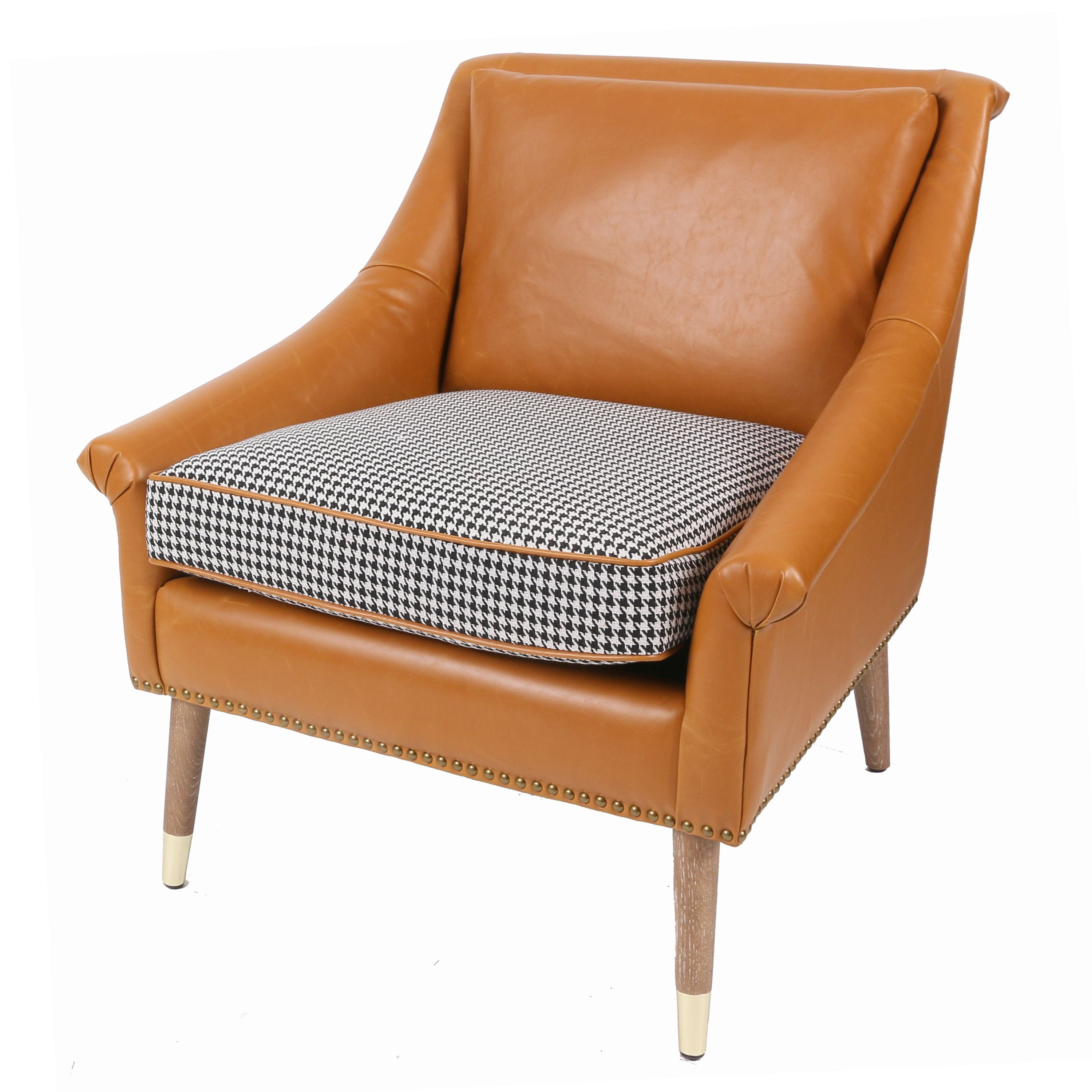 Leather Accent Chairs Metal Legs Caramel.Etude Kd Accent Chair Weathered Smoke W Gold Metal Tip Legs Black