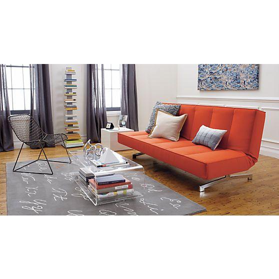 Flex Orange Sleeper Sofa In Sofas Cb2 Play Room Sala Comedor