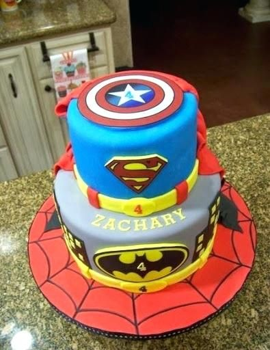 superhero cake decorating kit best captain birthday cakes ideas and