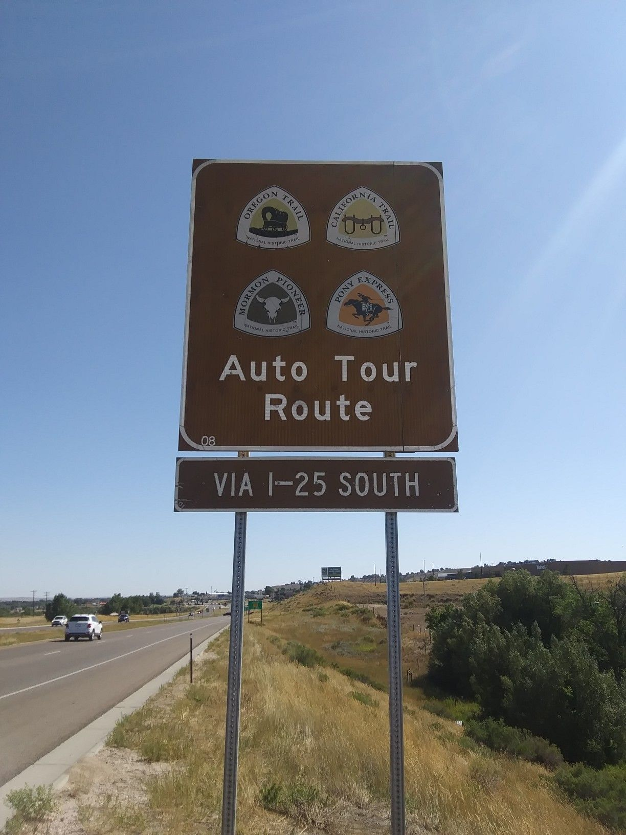 National Historic Trail Auto Tour Route sign Highway