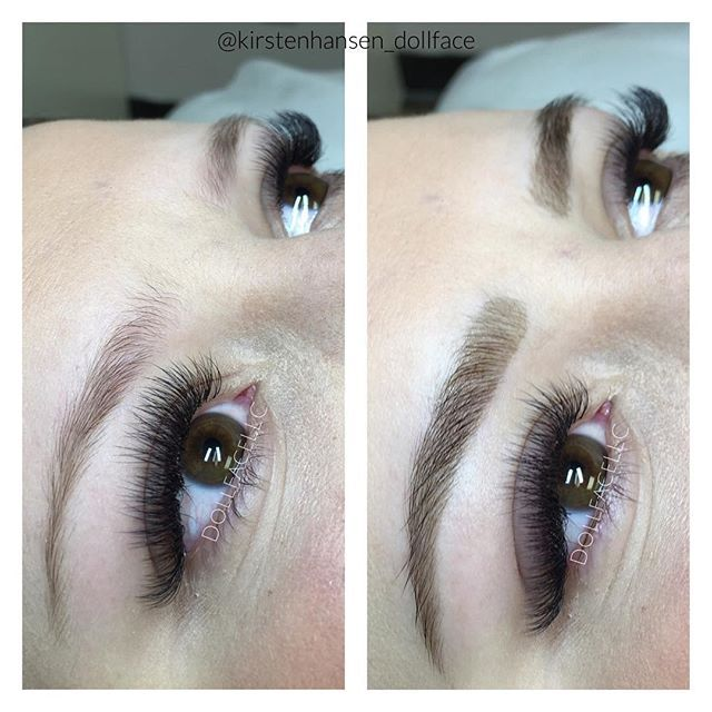 volume refill brows for days brow tint and threading