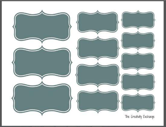 S lection d 39 tiquettes imprimer pour vous organiser bleu imprimables et astuces - Astuce pour enlever etiquette autocollante ...
