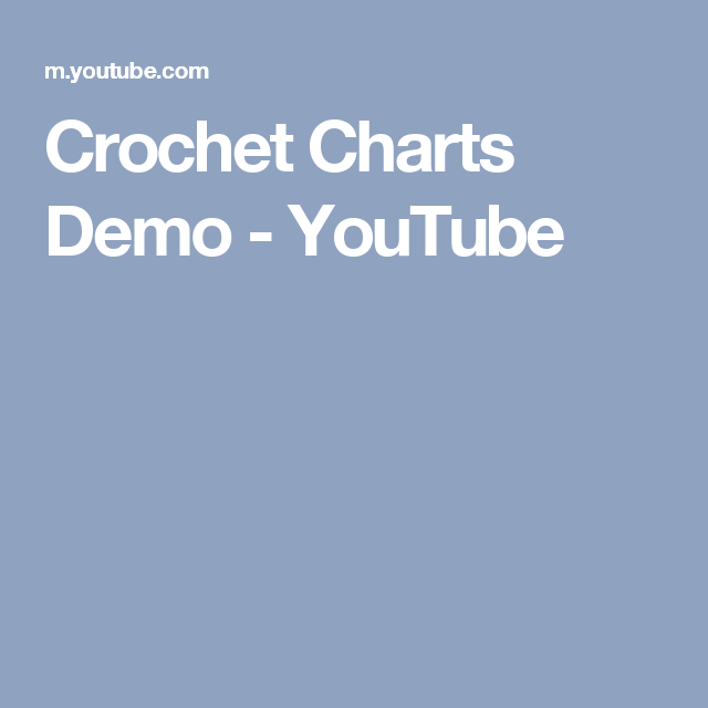 Crochet charts demo youtube crafts software pinterest crochet charts demo ccuart Image collections