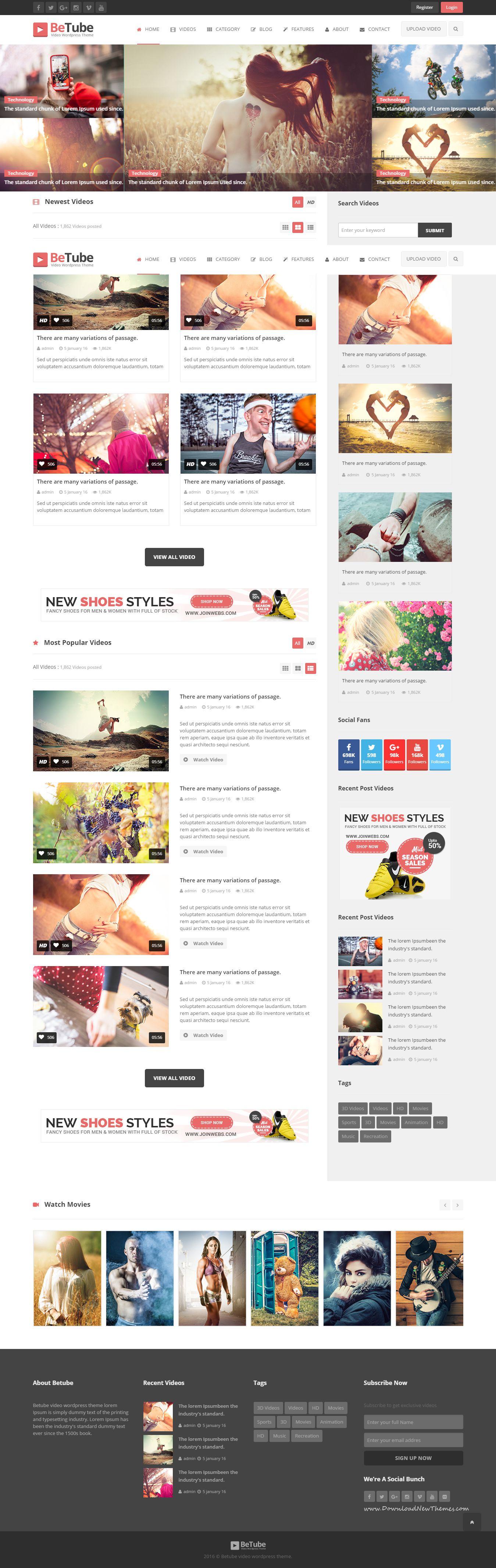 Betube Video Html Template Template And Wordpress