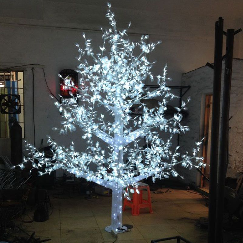 35Meters 3072LEDS white color artificial christmas trees with led