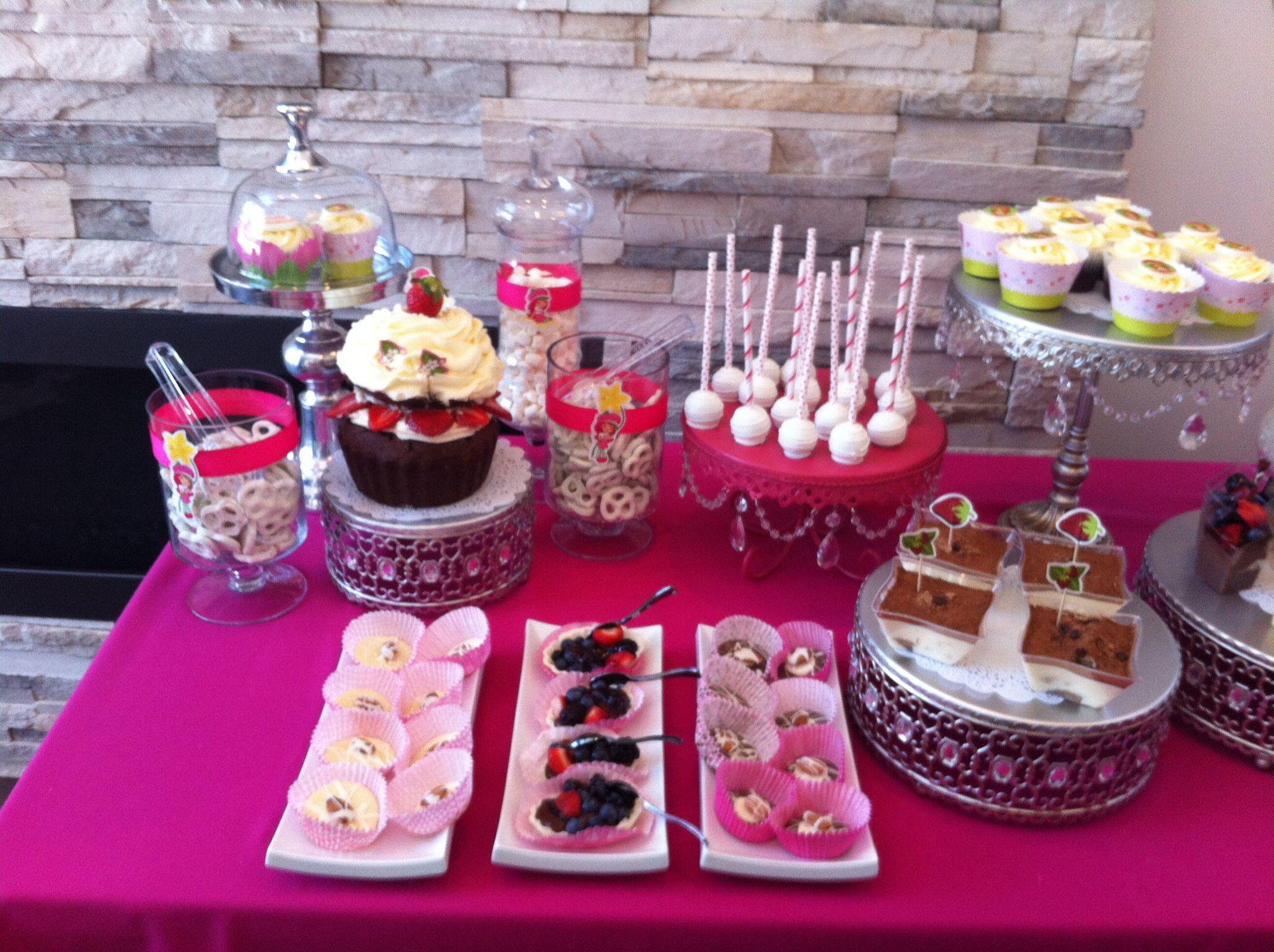 Candy bar strawberry shortcake theme