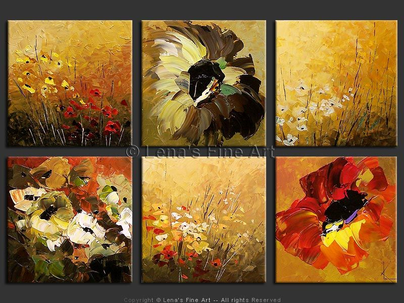 Multiple canvas paintings flowers google search diy for Multi canvas art diy