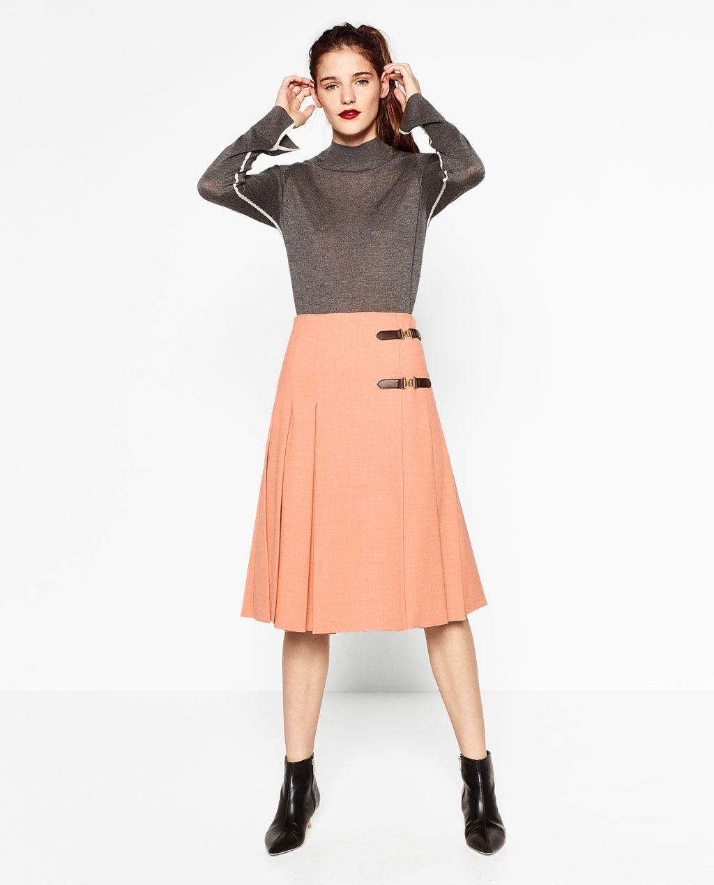 b6fa58db6 Imagen 1 de FALDA MIDI TABLAS de Zara | Moda Y Estilo _ Fashion And ...