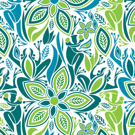 green frog blue frog fabric by ebygomm on spoonflower custom fabric