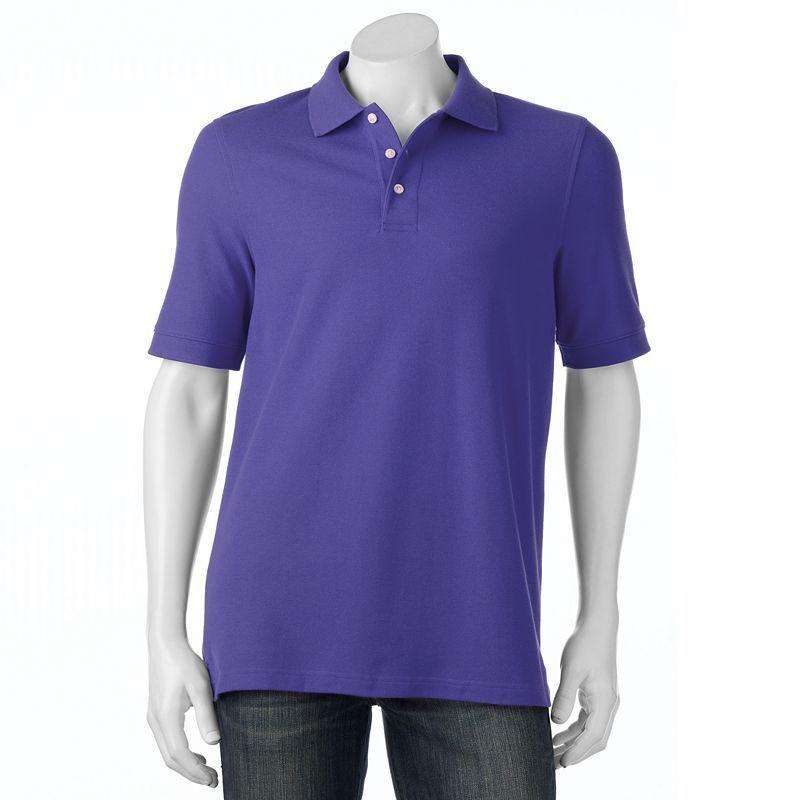 Men's Croft & Barrow® True Comfort Classic-Fit Pique Performance Polo, Size: Medium, Dark Blue