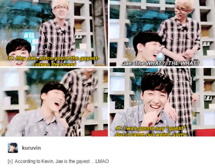 Jae Is The Gayest Lmao I Laughed So Hard Xd Asc Jae And Kevin 3 Love These Two Laughing So Hard Humor I Laughed
