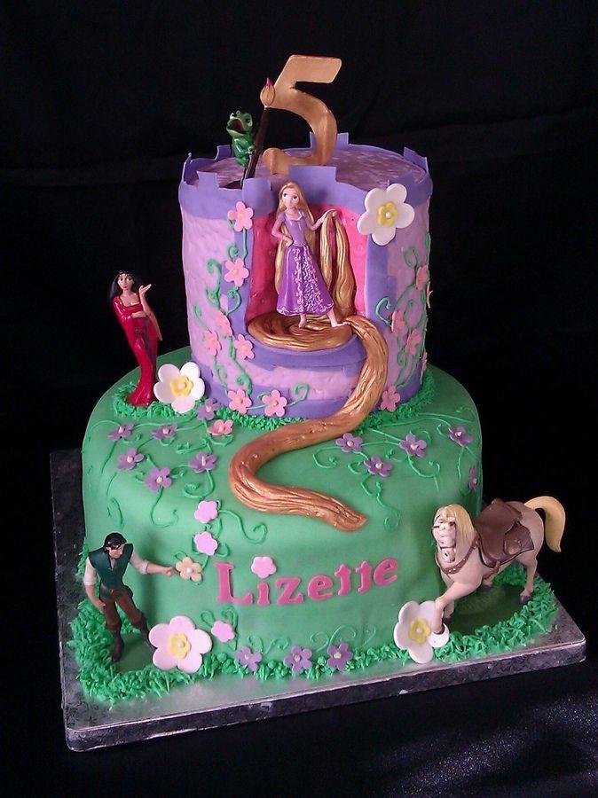 repunzal cake TANGLED RAPUNZEL CAKE Childrens Birthday Cakes