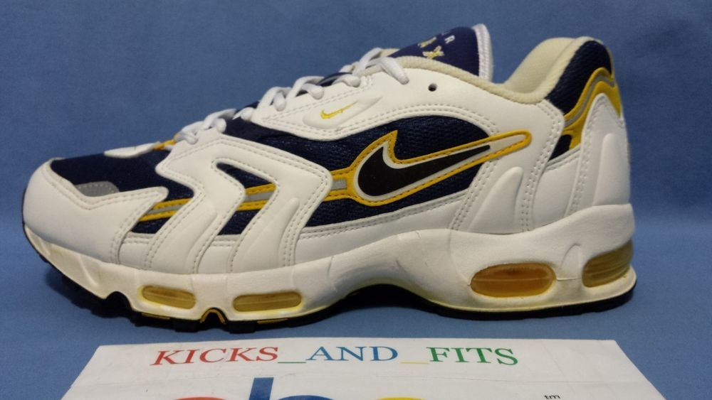 VTG OG NIKE AIR MAX 96 97 GOLDENROD NAVY WHITE 12 W/BOX 604075 95 90'S  JORDAN LE