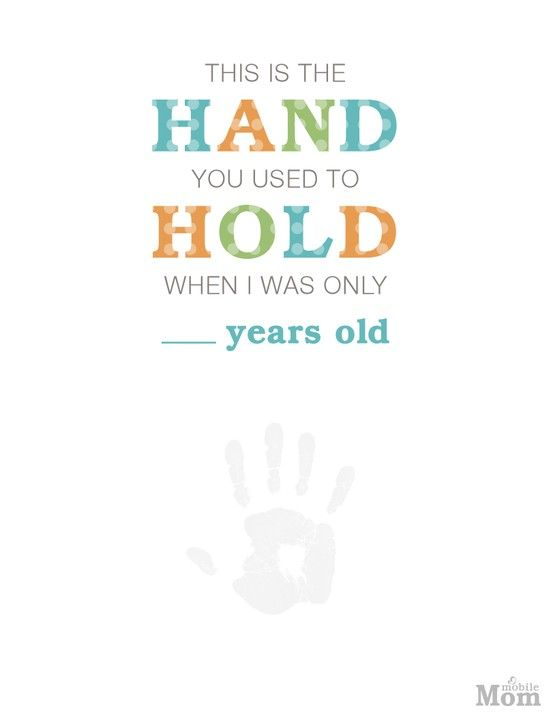 Cute Father S Day Craft This Is The Hand You Used To Hold When I