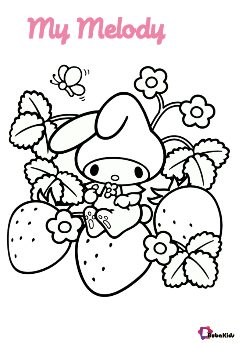 My Melody Sanrio Coloring Page Hello Kitty Coloring Manga Coloring Book Cute Coloring Pages