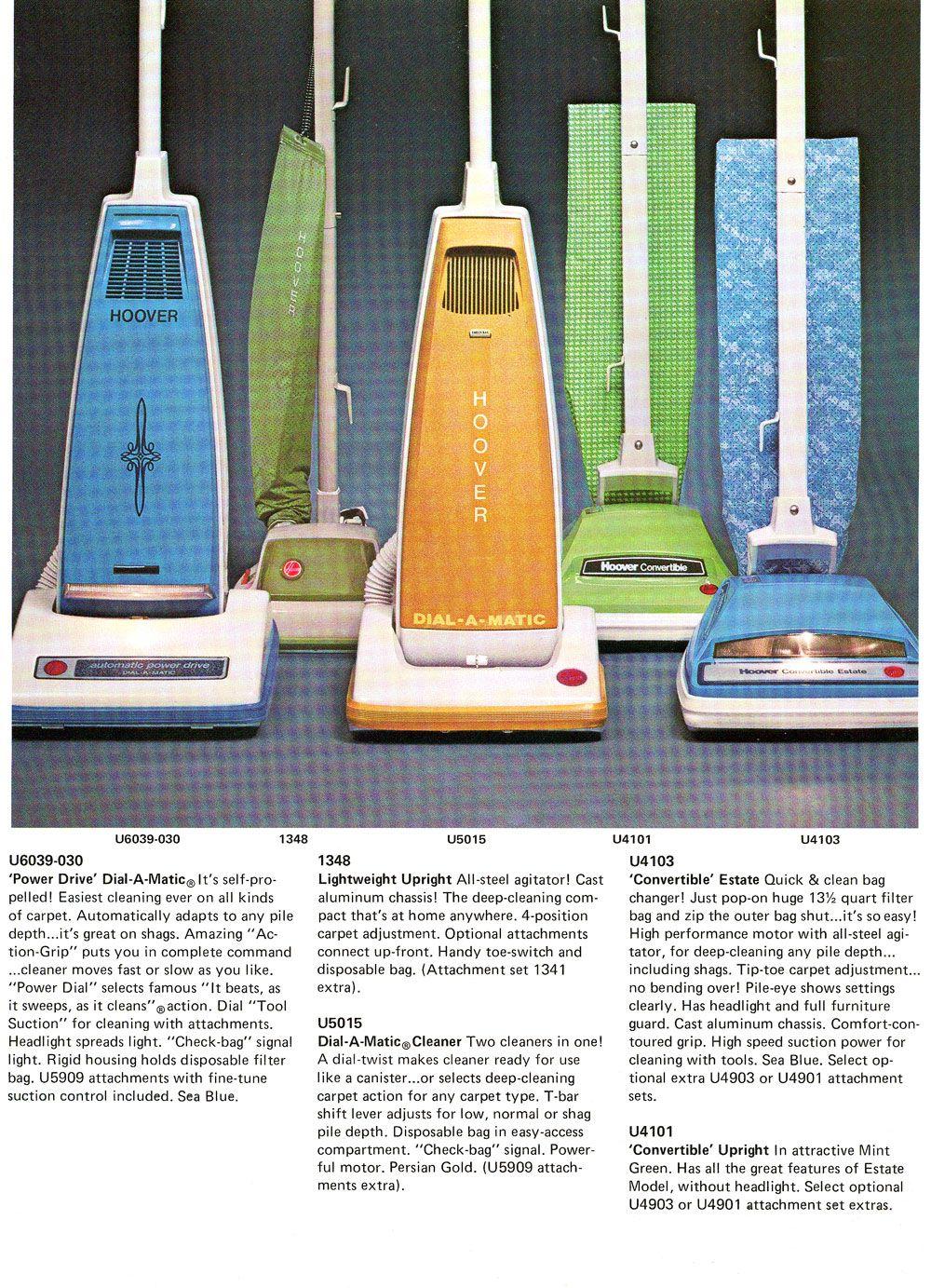 Hoover Us Full Line Catalog Late 70s Vintage Vacuum Cleaner Vintage Appliances Hoover