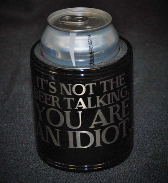 1 Coolie Cup Can Coolers Groomsmen Best Man Gift Wedding Favor Engraved Custom Personalized Sl