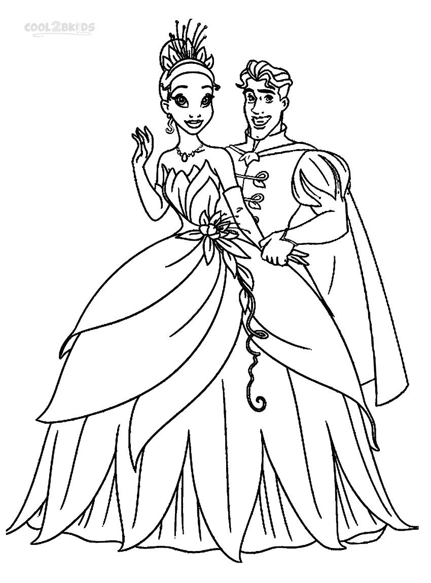 Printable Princess Tiana Coloring Pages For Kids | Cool2bKids ...