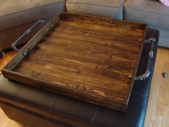 30 X 30 Industrial Style Ottoman Tray Rustic By Therocdesigns