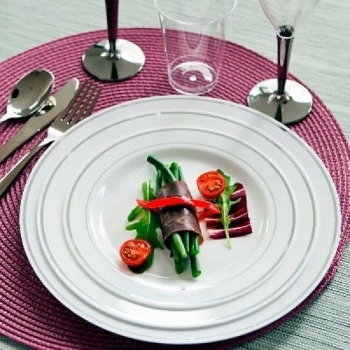 100 Strong Luxury Disposable Plastic Plates 19 23cm Food Wedding Catering Party & 100 Strong Luxury Disposable Plastic Plates 19 23cm Food Wedding ...