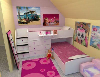 Dormitorio infantil compartido buscar con google for Decoracion cuartos pequenos ninos
