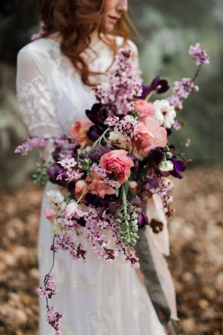 Pink Wedding Flowers for a Nature-Inspired Elopement on the Rocks