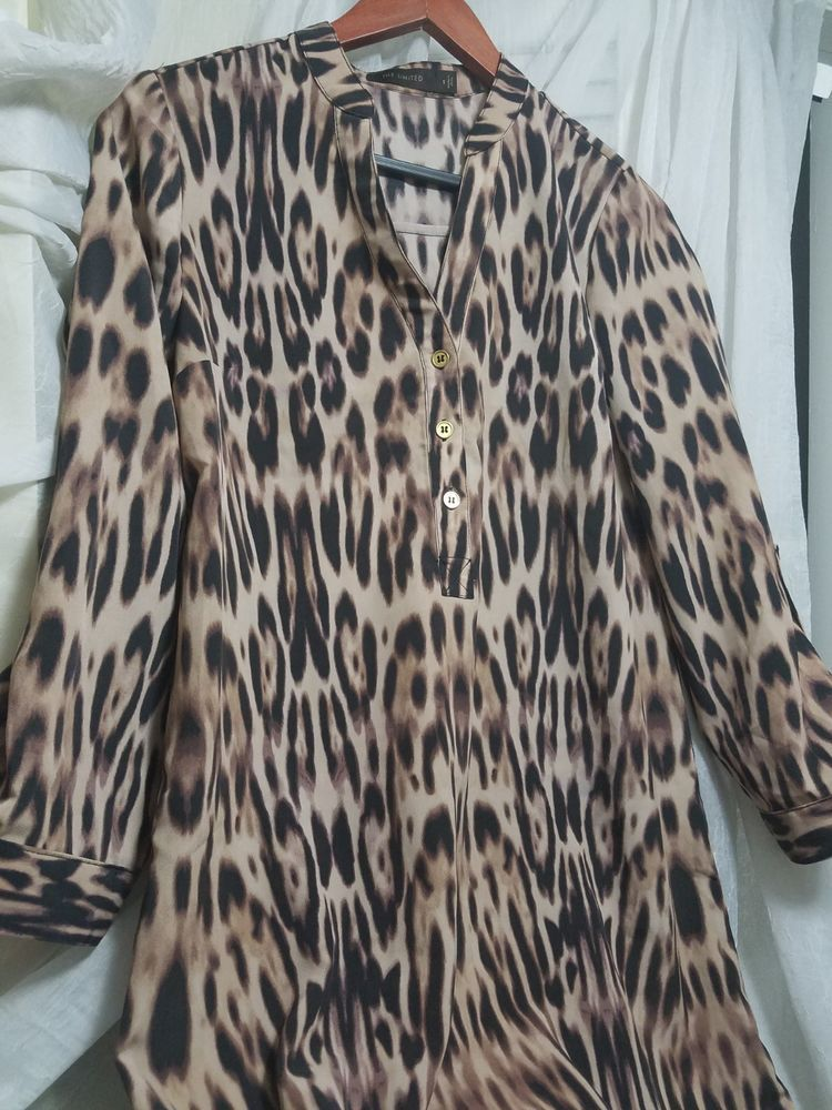 0312b71c2eb The Limited Leopard Print Animal Print Shirt Dress Small  fashion  clothing   shoes