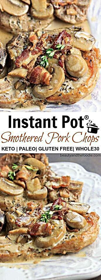 - Instant Pot Keto Smothered Pork Chops - Low carb, paleo, keto, and whole30. #FoodIsBae #fitness #f...
