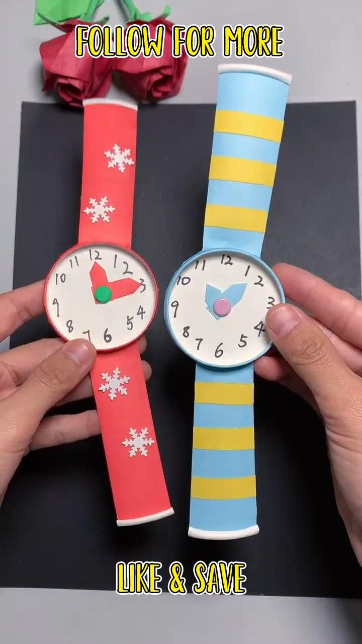 How to make easy paper watch /Origami paper Watch
