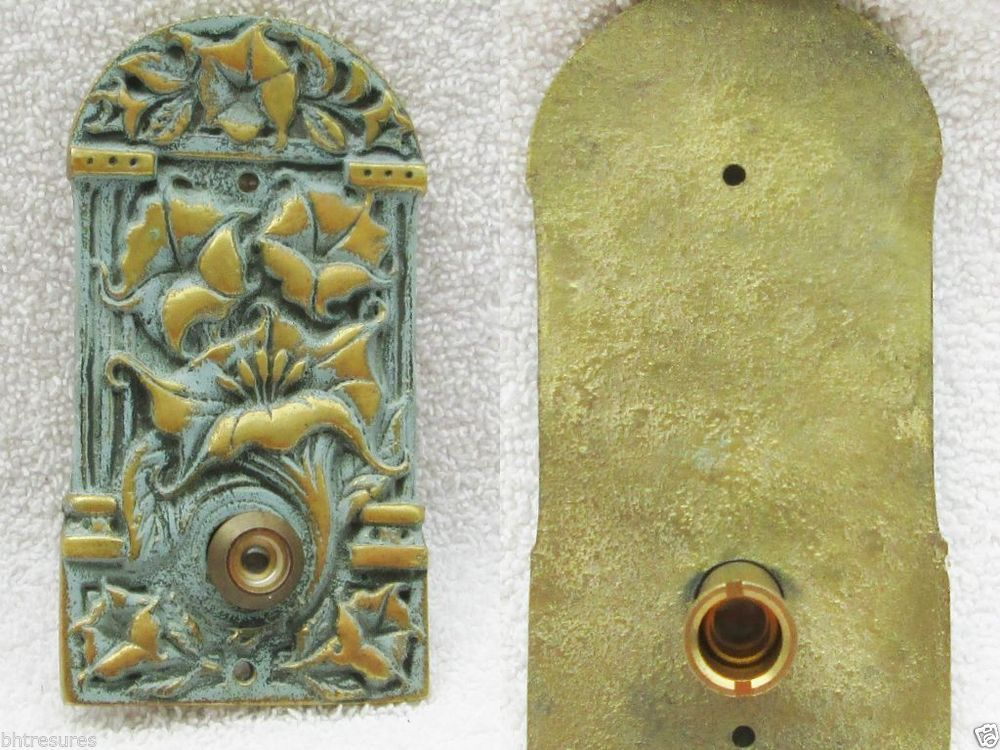 Brass Victorian Morning Glory Peep Hole Cover Safe Cover Decorative Door  Opening #Unbranded