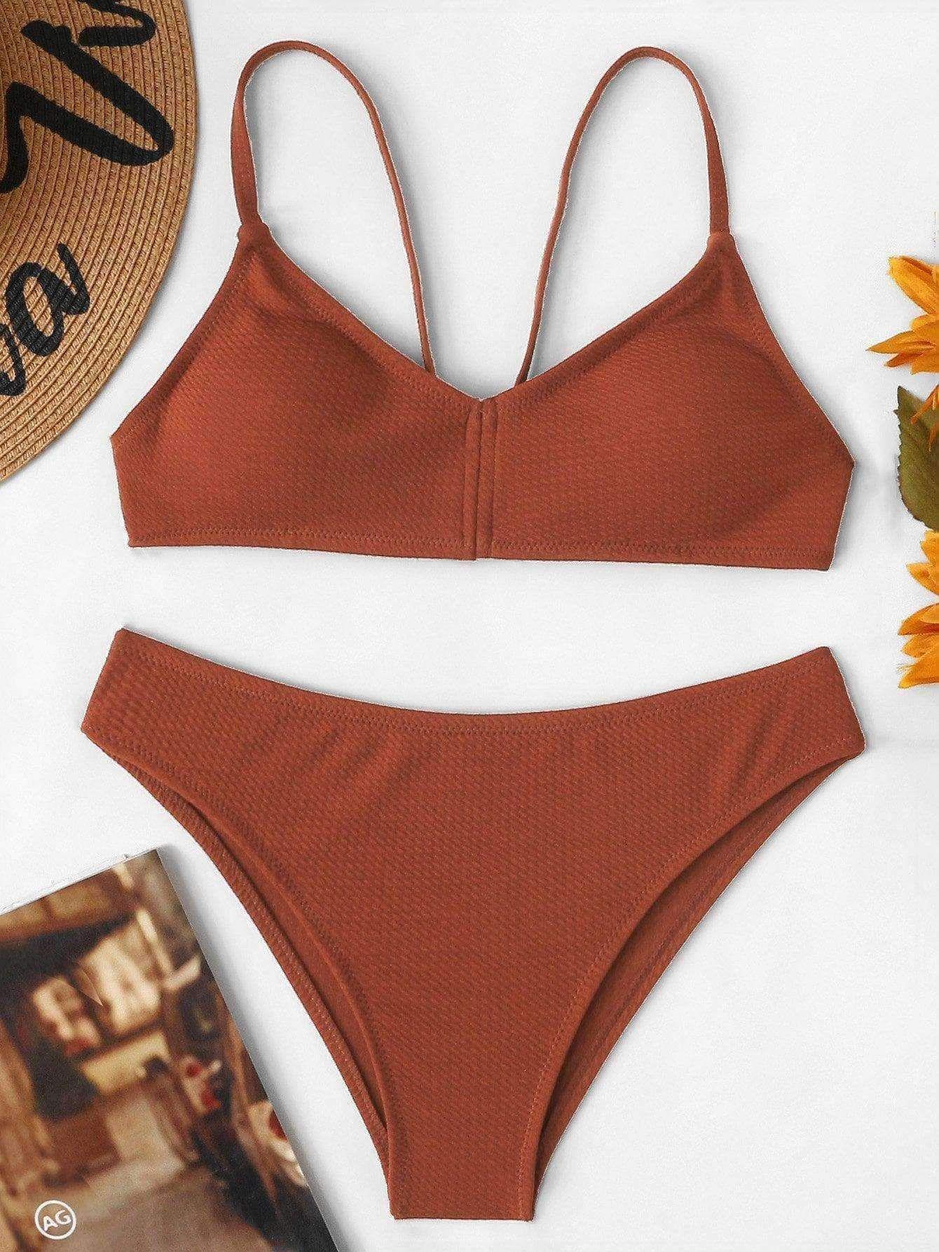 f5a17dd5639 Rust Bikini in 2019 | spring & summer style •• | Bikinis, Bikini set ...