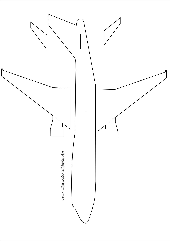 Laubsaege Flugzeug Vorlage A3 Flugzeug Basteln Werken Mit Kindern Vorlagen