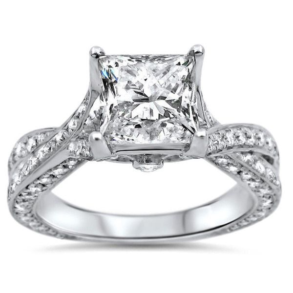 Noori 14k White Gold 1 4/5ct TDW Clarity-enhanced Diamond Engagement Ring (G-H, SI1-SI2)