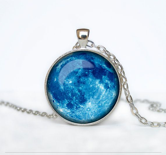 Full moon necklace moon pendant space galaxy blue moon jewelry full moon necklace moon pendant space galaxy blue moon jewelry aloadofball Images