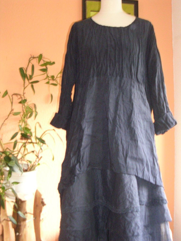 cocon commerz privatsachen *  - edles kleid / tunika, blau