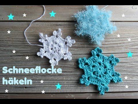 Einfache Schneeflocke häkeln - YouTube | вязание крючком | Pinterest ...