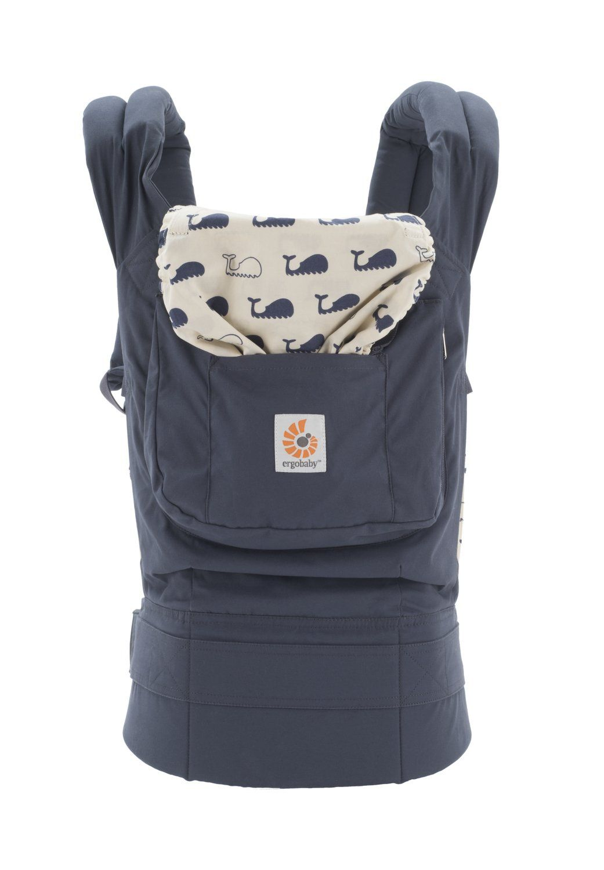 Ergobaby Original Award Winning Ergonomic Multi-Position Baby Carrier with X-Large Storage Pocket Black Camel